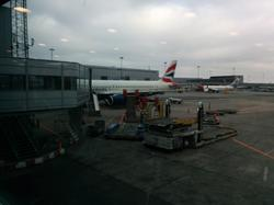 First flight, to London