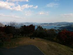 Climbed Fudekageyama. Breathtaking view on all sides of the Seto inland sea.