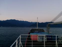 Arriving in Yakushima at daybreak.