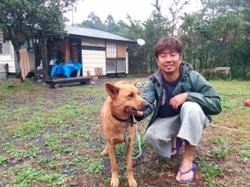 I stayed the night with Isamu-san and his dog Koro.