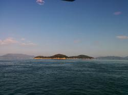 On the ferry to Shōdoshima, on the way back to Ōsaka.